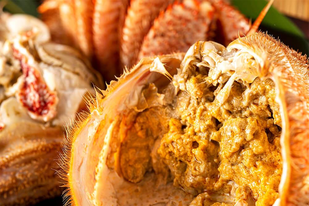 毛ガニのカニ味噌